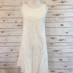 Beaded Carole Little Linen Day Dress
